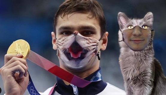 Gunakan Masker Kucing Saat Penyerahan Medali, Perenang ROC Ditolak