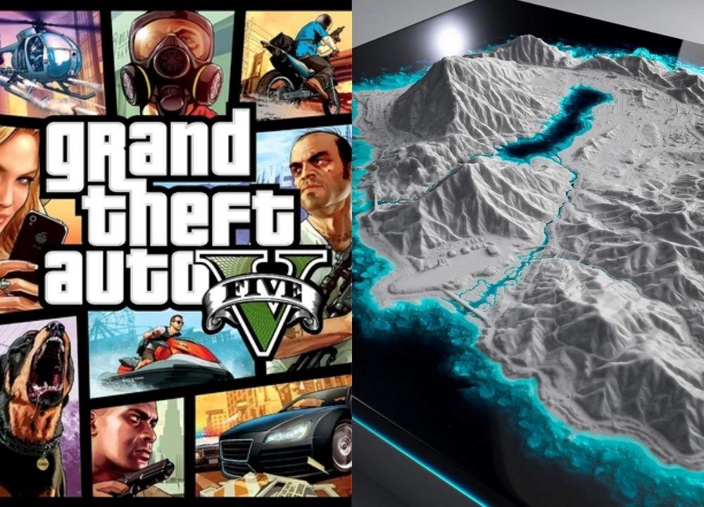 GTA 5 Map Dalam Bentuk 3D Printing, Bikinnya 400 Jam Lebih!