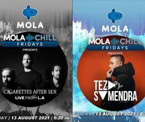 Molla Chill Fridays kembali lagi menghadirkan musik bertema cinta dengan penampilanCigarettes After Sexdan Teza Sumendra. Kedua misisi ternama itu bakal tampil malam ini, Jumat, 13 Agustus 2021 mulai jam 20.30