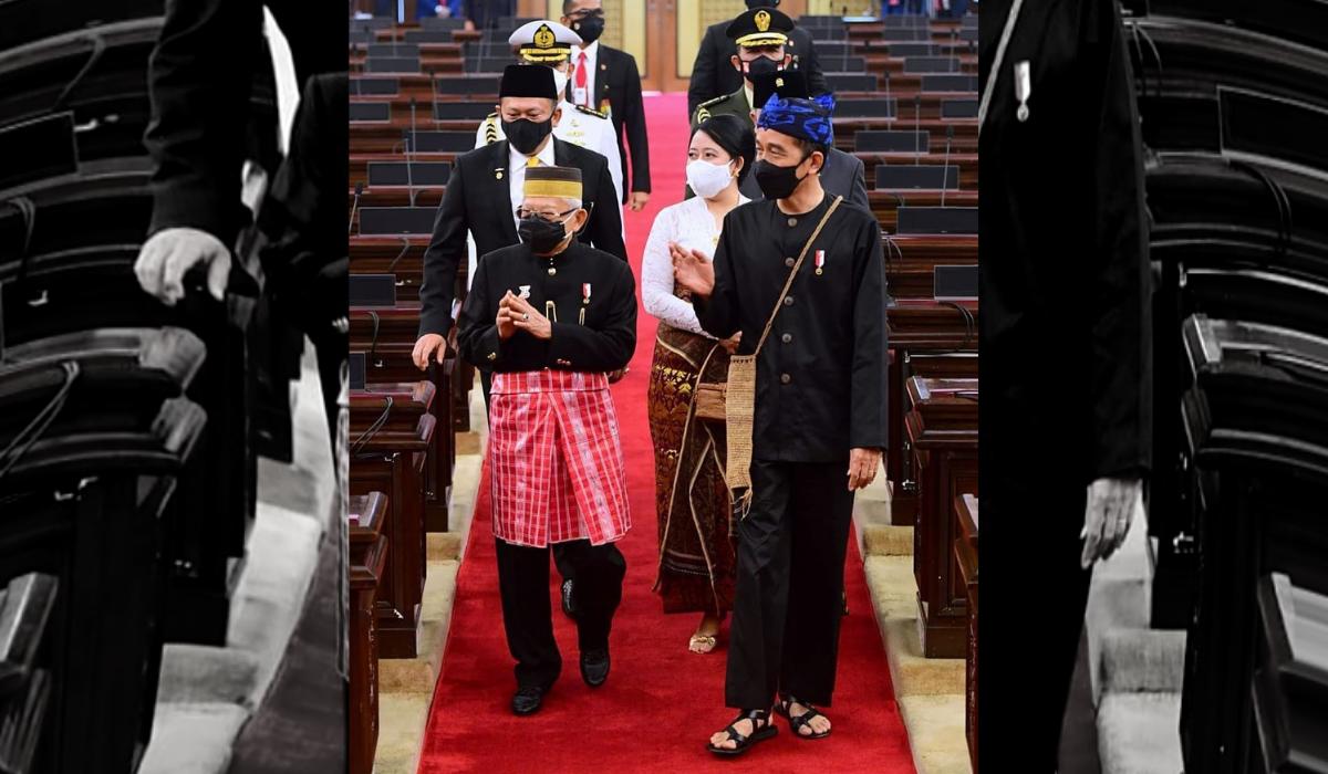 Jokowi Jadi Presiden Pertama yang Mengenakan Sandal Ketika Pidato Kenegaraan
