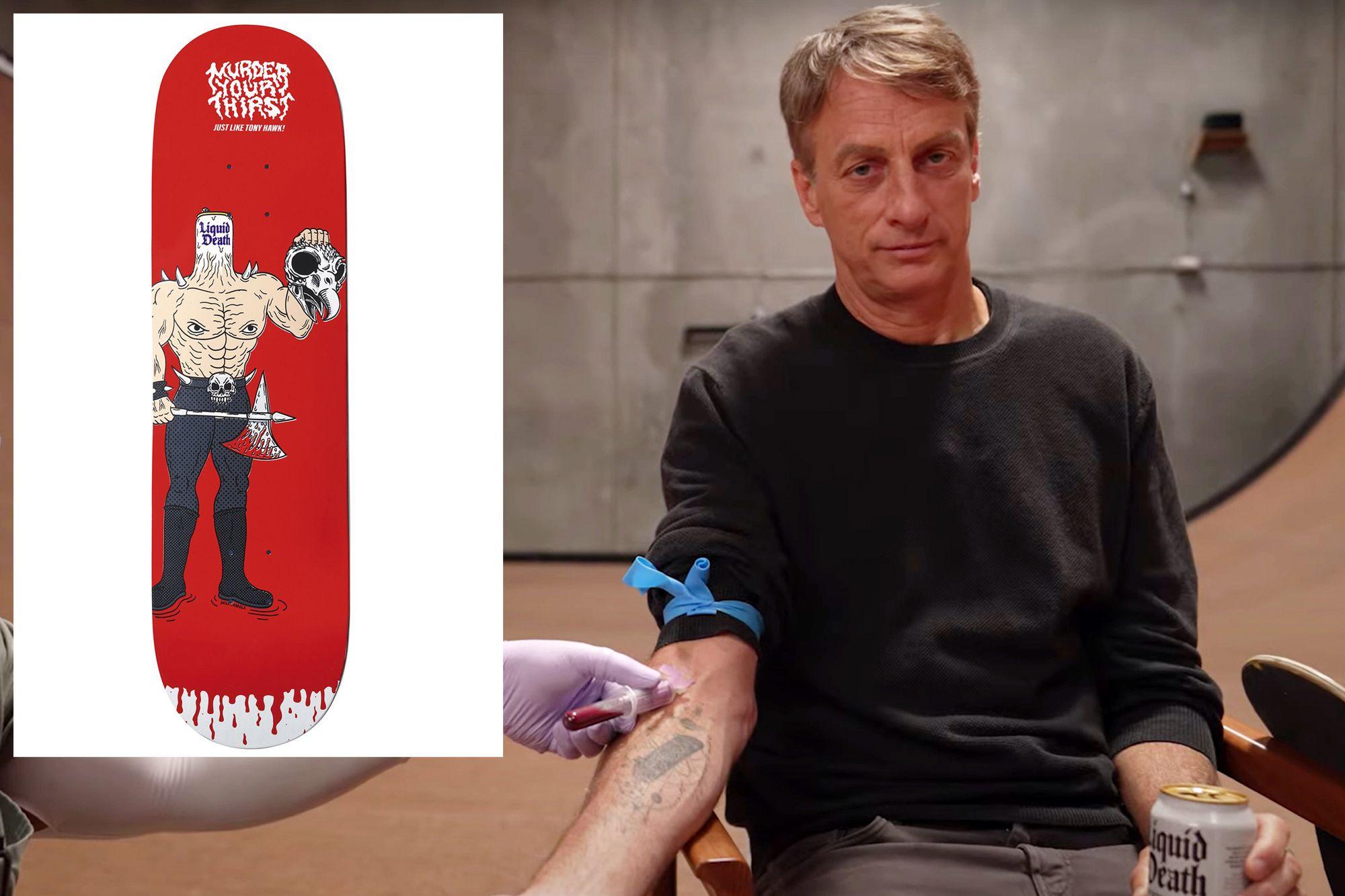 Tony Hawk Rilis Papan Skateboard yang Dicat dengan Darahnya Sendiri