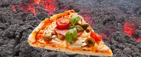 Makanan Ekstrem! Pizza Ini Dipanggang Pakai Lava 1.800 Derajat Celcius