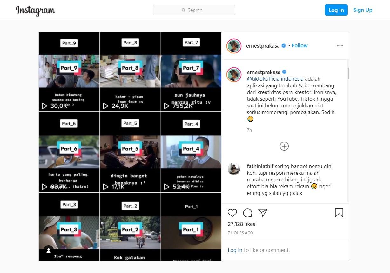 Film Bajakan 'Beredar Bebas' di TikTok, Ernest Prakasa Angkat Bicara!