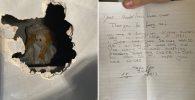 Boneka Horor Beserta Pesan Menyeramkan Ditemukan Pria Ini di Balik Tembok Rumahnya